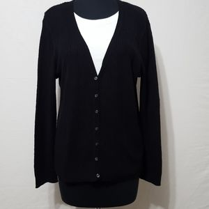 Liz Claiborne Knit Button Cardigan